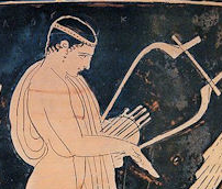 Ancient Greek Lyre image from vase